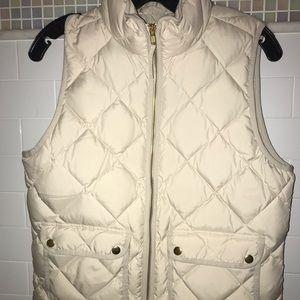 J. Crew Jackets & Coats - Jcrew ivory vest